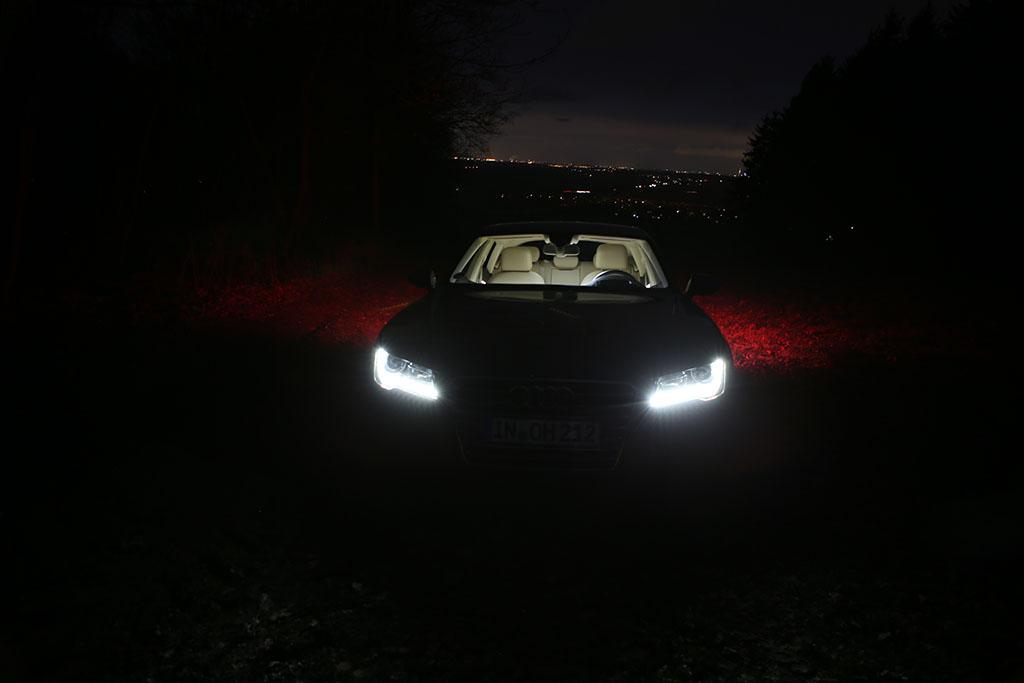 Audi A7 Dunkelheit
