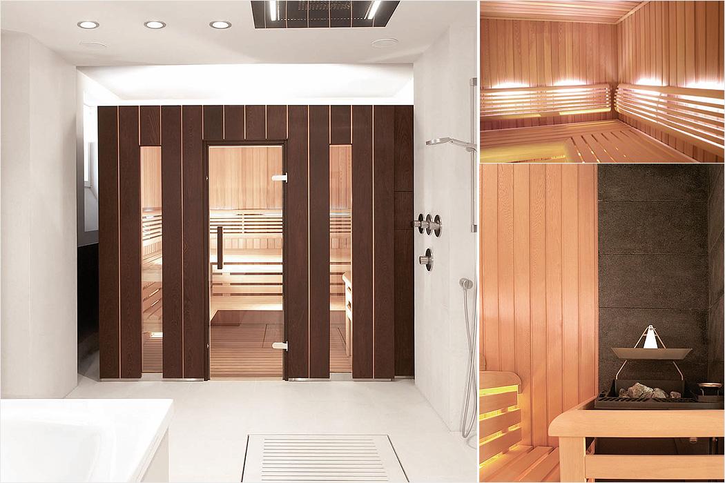 puristische sauna eine wundervolle symbiose aus natur. Black Bedroom Furniture Sets. Home Design Ideas