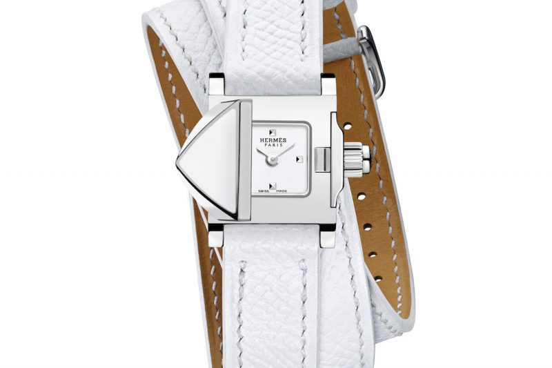 Hermès Médor Rock Weiß Uhr