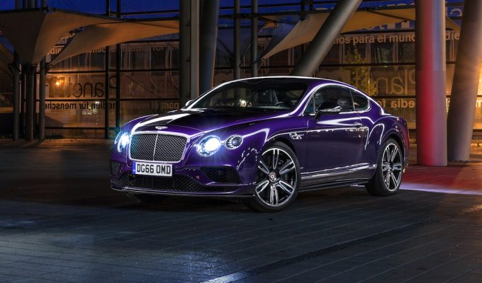 Bentley Continental GT V8 S Azure purple