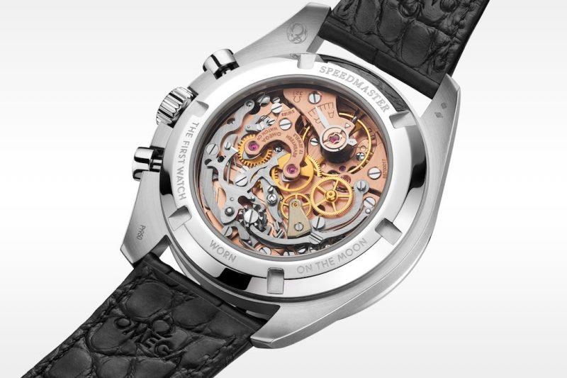 Omega Speedmaster Moonwatch 321 Platinum Glasboden