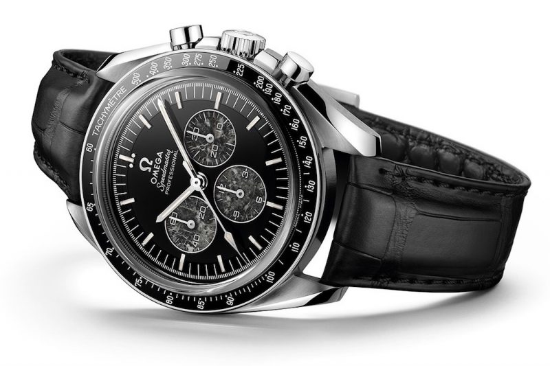 Omega Speedmaster Moonwatch 321 Platinum Leder schwarz