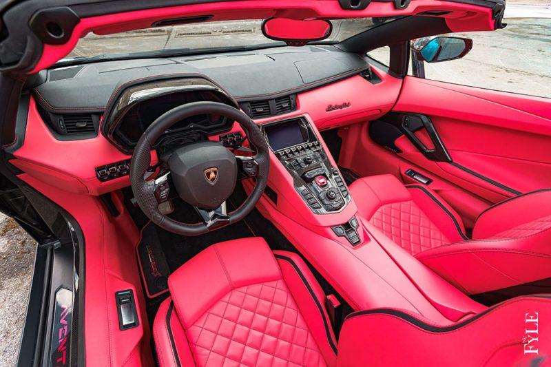 Lamborghini Aventador S Roadster Interieur