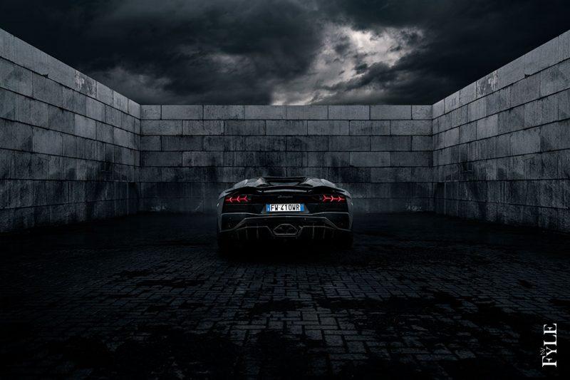 Lamborghini Aventador S Roadster Heck