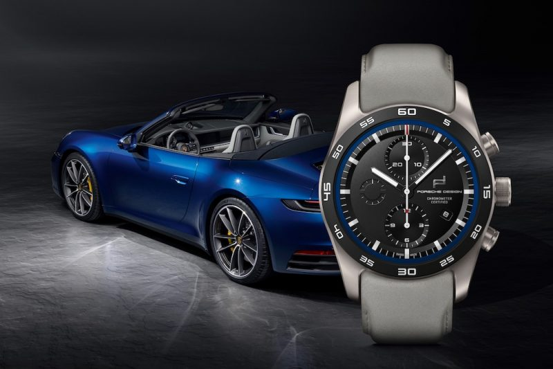 Porsche Design Uhren-Konfigurator Carrera 4S Cabrio blau grau