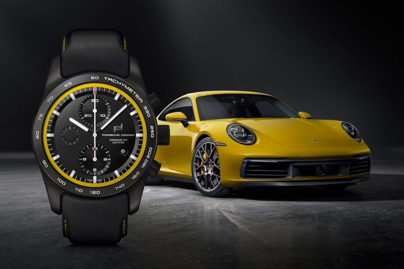 Porsche Design Uhren-Konfigurator Carrera 4S Racing Gelb schwarz