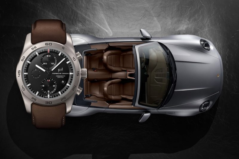 Porsche Design Uhren-Konfigurator Carrera S Cabrio silber braun