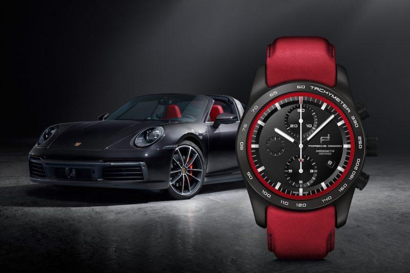 Porsche Design Uhren-Konfigurator Targa schwarz rot