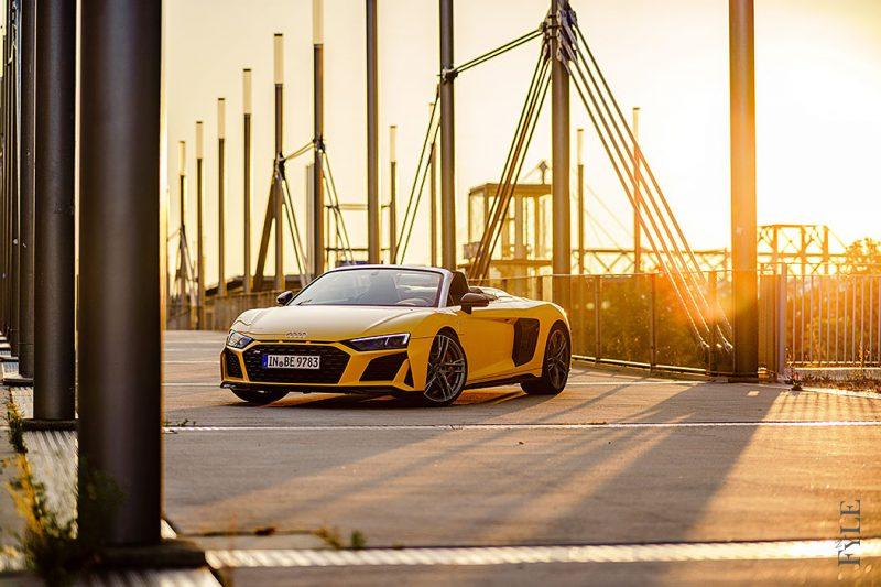 Audi R8 Spyder V10 performance Bruecke
