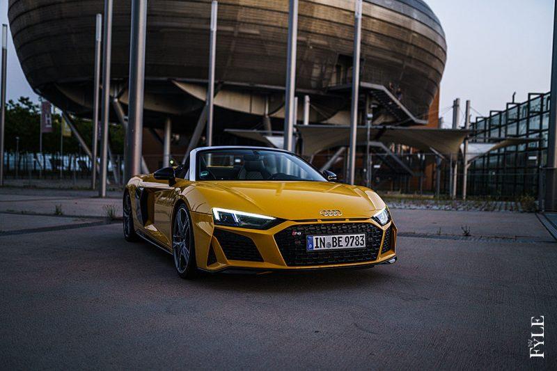 Audi R8 Spyder V10 performance Vegasgelb