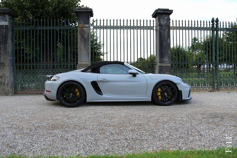 Porsche 718 Spyder Seite